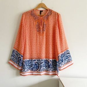 Kay Celine sheer tunic blouse
